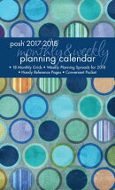 Posh: Denim Dots 2017-2018 Monthly/Weekly Planning Calendar