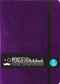 MonsieurNotebookPurpleLeatherPlainMedium[HideStationeryLtd]