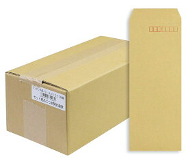 マルアイ 封筒 長形40号 クラフト封筒 テープ付 250枚 85g A4四つ折対応 E301351 封筒 (文具(Stationary))
