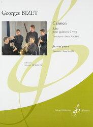 【輸入楽譜】ビゼー, Georges: 「カルメン」組曲/木管五重奏用編曲/ウォルター編曲