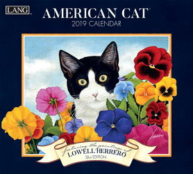 American Cat 2019 14x12.5 Wall Calendar