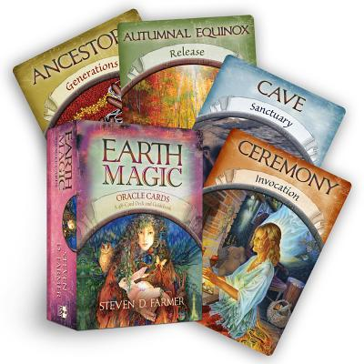 Earth Magic Oracle Cards: A 48-Card Deck and Guidebook EARTH MAGIC ORACLE CARDS [ Steven D. Farmer ]