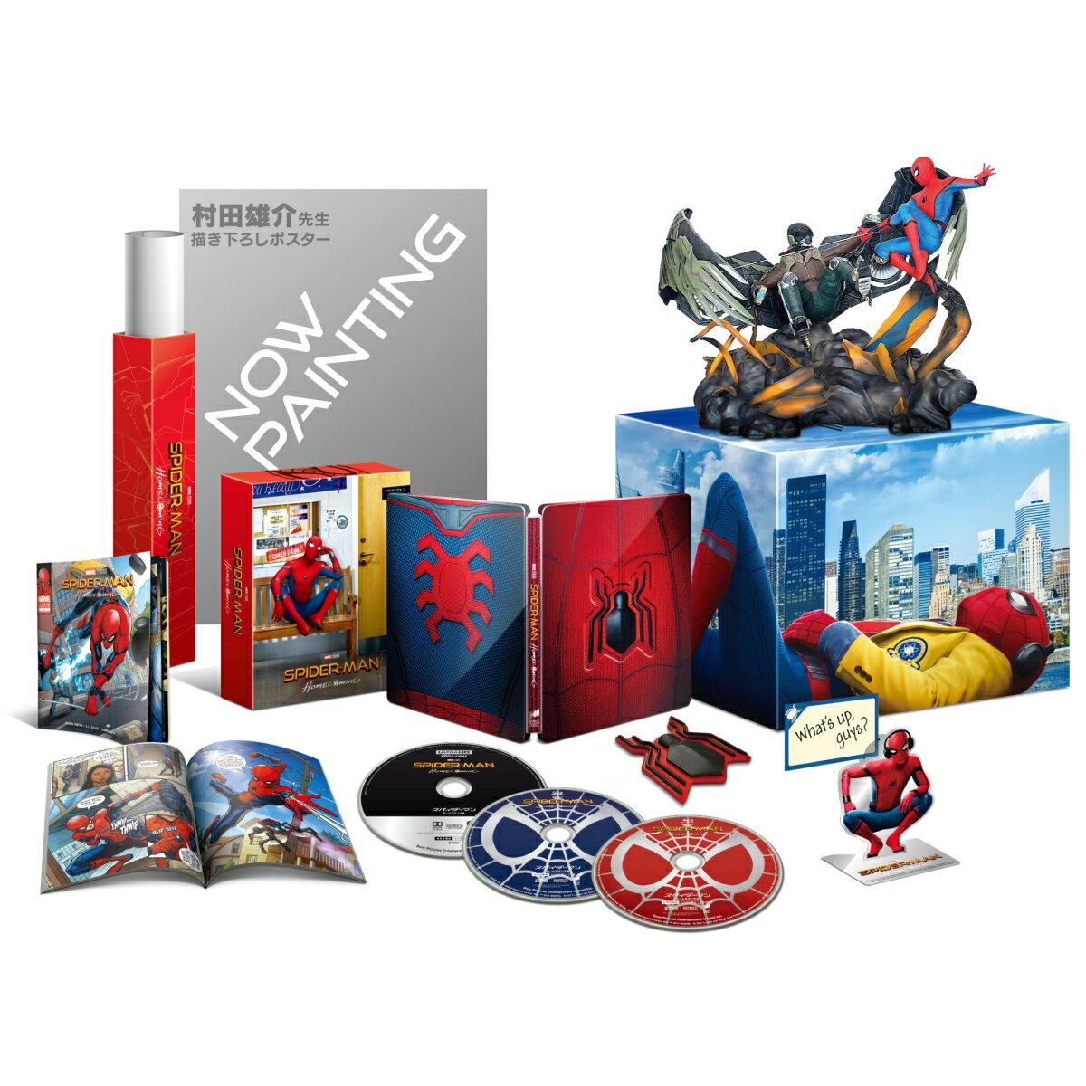 スパイダーマン:ホームカミング プレミアムBOX(ブルーレイ+ブルーレイ3D+4K ULTRA HD)(3,000セット限定)【4K ULTRA HD】 [ トム・ホランド ]