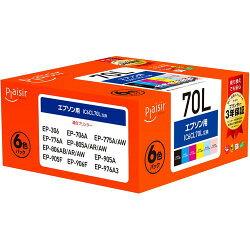 IC6CL70L互換インクカートリッジ 6色パック PLE-E70L-6P プレジール