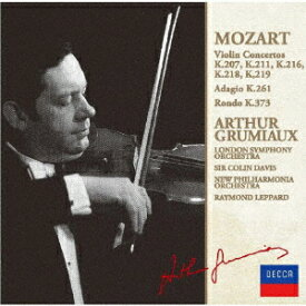 モーツァルト:ヴァイオリン協奏曲集(第1番ー第5番) [ アルテュール・グリュミオー ]