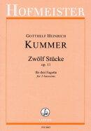 【輸入楽譜】クンマー, Gotthelf-Heinrich: ファゴット三重奏のための12の小品 Op.11