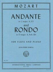 【輸入楽譜】モーツァルト, Wolfgang Amadeus: アンダンテ ハ長調 KV 315、ロンド ニ長調 KV Anh.184/ランパル編