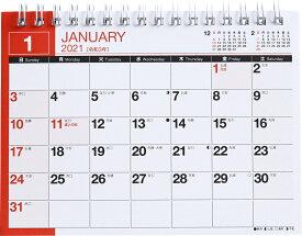 2021年版 1月始まりE136 エコカレンダー卓上 高橋書店 A6サイズ (卓上)