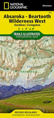 Absaroka-BeartoothWilderness-West,Custer&GallatinNationalForests:TrailsIllustrated[NationalGeographicMaps]