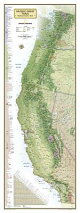 Pacific Crest Trail Wall Map [In Gift Box]