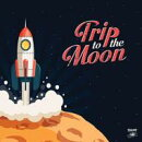 【輸入盤】Trip To The Moon - 13 Obscure R & B. Garage Rock And Deepfunk Songs About The Moon