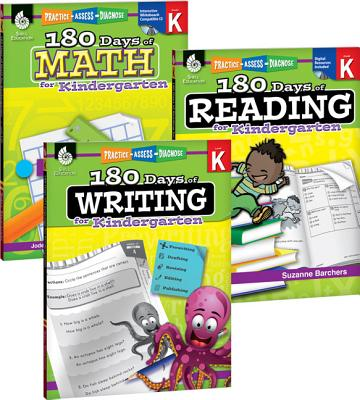 180 Days of Reading, Writing and Math for Kindergarten 3-Book Set 180 DAYS OF READING WRITIN-3CY (180 Days) [ Teacher Created Materials ]