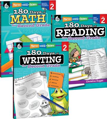 180 Days of Reading, Writing and Math for Second Grade 3-Book Set 180 DAYS OF READING WRITING & (180 Days) [ Teacher Created Materials ]
