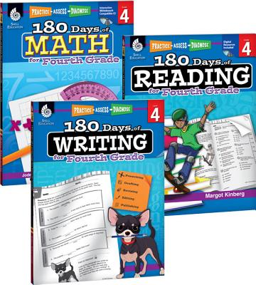 180 Days of Reading, Writing and Math for Fourth Grade 3-Book Set 180 DAYS OF READING WRITING 3V (180 Days) [ Teacher Created Materials ]