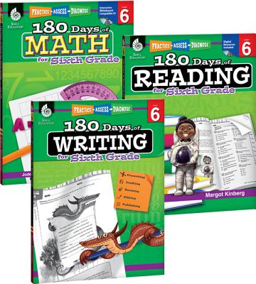 180 Days of Reading, Writing and Math for Sixth Grade 3-Book Set 180 DAYS OF READING WRITING & (180 Days) [ Teacher Created Materials ]
