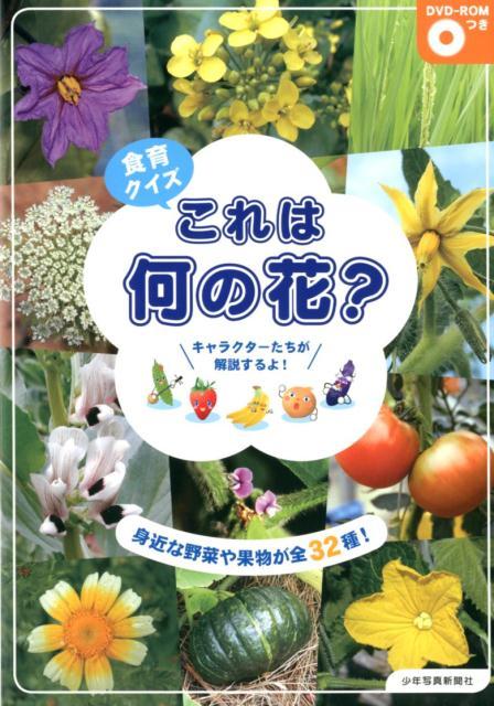 食育クイズこれは何の花? 身近な野菜や果物が全32種![DVD-ROMつき] [ 少年写真新聞社『給食ニュース』編集部 ]