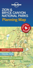 Lonely Planet Zion & Bryce Canyon National Parks Planning Map