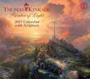 Thomas Kinkade Painter of Light with Scripture 2017 Deluxe Wall Calendar
