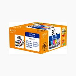 IC6CL80L互換インクカートリッジ 6色パック 増量版 PLE-E80L-6P