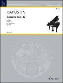 【輸入楽譜】カプースチン, Nikolai: ピアノ・ソナタ 第6番 Op.62