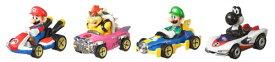 ホットウィール マリオカート 4パック ミニカーセット マリオ ルイージ クッパ ブラックヨッシー GLN53