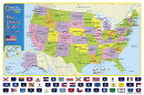National Geographic: The United States for Kids Wall Map - Laminated (24 X 36 Inches)