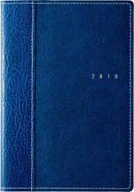 2019年度版 4月始まり No.635 シャルム(R) 5 ネイビー 高橋手帳 2019年4月始まり B6判
