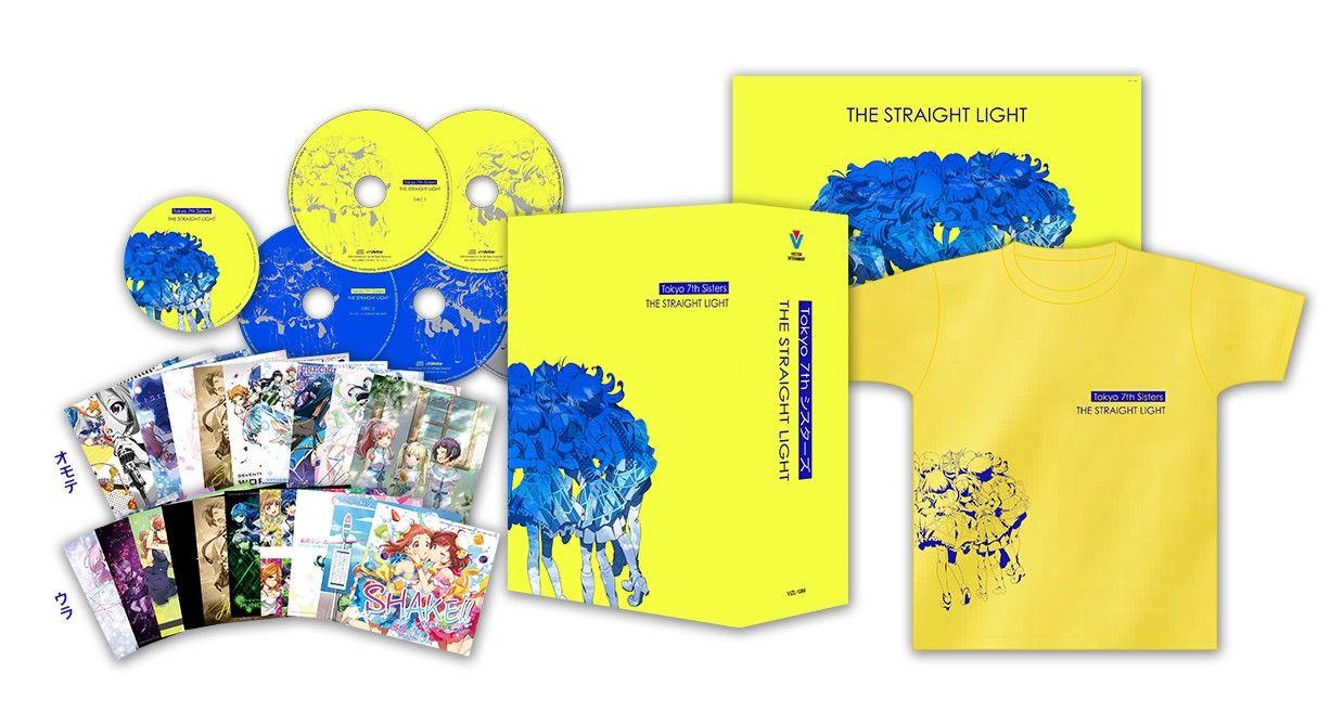 THE STRAIGHT LIGHT (プレミアムボックス 4CD+DVD+Tシャツ+缶バッジ) [ Tokyo 7th シスターズ ]