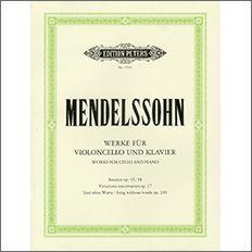 【輸入楽譜】メンデルスゾーン, Felix: チェロのためのオリジナル作品集