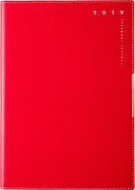 2019年度版 4月始まり No.642 T'ディレクションダイアリー 2 レッド 高橋手帳 2019年4月始まり B6判