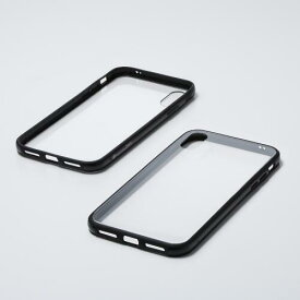 Deff Hybrid Case Etanze for iPhone Xs/X 透明クリア/ブラック