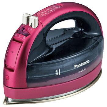 Panasonic コードレススチームアイロン (ピンク) NI-WL704-P