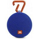 JBL CLIP2 Bluetoothスピーカー IPX7防水/パッシブラジエーター搭載/ポータブル/カラビナ付 ブルー JBLCLIP2BLUE