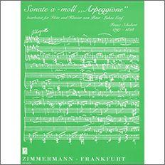 【輸入楽譜】シューベルト, Franz: アルペジョーネ・ソナタ イ短調 D 821/グラーフ編曲