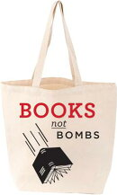 TOTE BAG:BOOKS NOT BOMBS