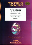【輸入楽譜】ピアソラ, Astor: アヴェ・マリア - Tanti Anni Prima/チェロとピアノ用編曲/モーティマー編