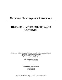NationalEarthquakeResilience:Research,Implementation,andOutreach[CommitteeonNationalEarthquakeResilie]