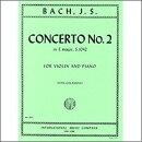 【輸入楽譜】バッハ, Johann Sebastian: バイオリン協奏曲 第2番 ホ長調 BWV 1042/ガラミアン編