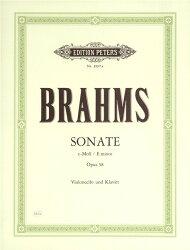 【輸入楽譜】ブラームス, Johannes: チェロ・ソナタ 第1番 ホ短調 Op.38/クレンゲル編