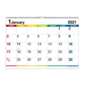 エトランジェ カレンダー 2021年 壁掛け B3 数字 CLE-B3-02 カレンダー (カレンダー)