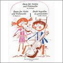 【輸入楽譜】初心者のためのバイオリンとチェロの二重奏曲集 第1巻: 演奏用スコア
