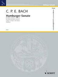 【輸入楽譜】バッハ, Carl Philipp Emanuel: ハンブルク・ソナタ ト長調 Wq 133