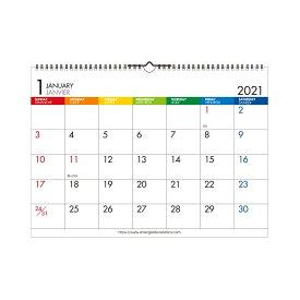 エトランジェ カレンダー 2021年 壁掛け A3 数字 CLE-A3-01 カレンダー (カレンダー)
