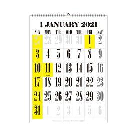 エトランジェ カレンダー 2021年 壁掛け A3 数字 CLV-A3-11 カレンダー (カレンダー)