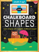 Chalkboard Shapes: Learn Your Shapes with Reusable Chalkboard Pages! [With Chalk]