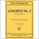 【輸入楽譜】ゴルターマン, Georg: チェロ協奏曲 第3番 ロ短調 Op.51