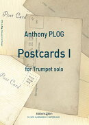 【輸入楽譜】プログ, Anthony: ポストカード(手紙) 1 〜無伴奏トランペットのための