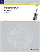 【輸入楽譜】ペンデレツキ, Krzysztof: バイオリンのための「ラ・フォリア」