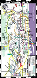 Streetwise Barcelona Metro Map - Laminated Metro Map of Barcelona Spain: Folding Pocket & Wallet Siz