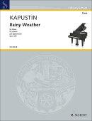 【輸入楽譜】カプースチン, Nikolai: 雨模様 Op.159
